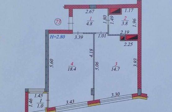 Нова квартира 43 м з ремонтом і меблями з видом на ліс. «ЖК Parktown»